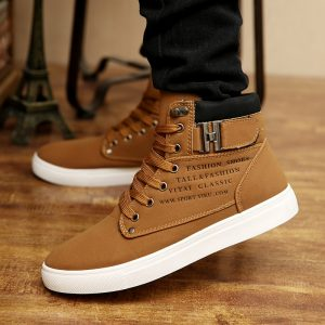 Men's Sneakers 2020 Autumn Winter Warm Matte Leather High Top Men's Shoes Large Size Size 47 Retro Casual Men's Boots Male