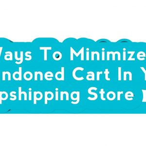 6 Ways To Minimize Abandoned Cart In Your Dropshipping Store