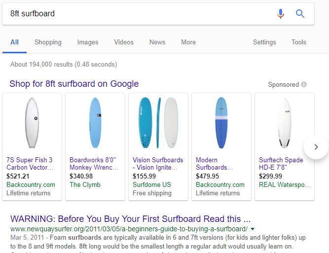Google Product Listing